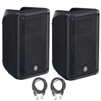 Yamaha DBR10 10-Inch 2-Way Powered Loudspeaker (Pair) with 20ft XLR Cables