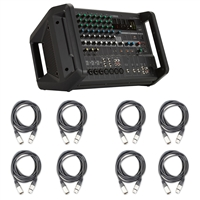 Yamaha EMX5 12-input Stereo Powered Mixer with 8 AxcessAbles XLR-XLR20 Audio Cables