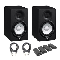 Yamaha HS5 Studio Monitor (2pcs) with AxcessAbles XLR-XLR20-2 Mic Cable and Auralex MoPAD Monitor Isolation Pads