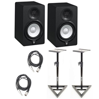 Yamaha HS5 Studio Monitor (2pcs) w/TRS to XLR3M CableS and Monitor Stands