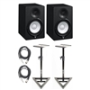 Yamaha HS7 Studio Monitors pair w/Stands Pair and cables