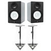 Yamaha HS8 Studio Monitors with Stands (Pair)