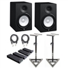 Yamaha HS8 Powered Studio Monitors (Pair) w/ XLR-Cables, Monitor Pads and Stands