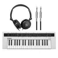 Yamaha Reface CS - Mobile Mini-Analog Modeling Synthesizer w/ AxcessAbles Stereo Headphones and Audio Cable