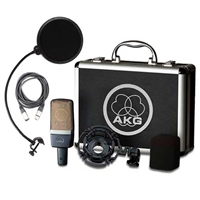 AKG C214 Recording Condenser Studio Microphone with Pop Filter and Cable