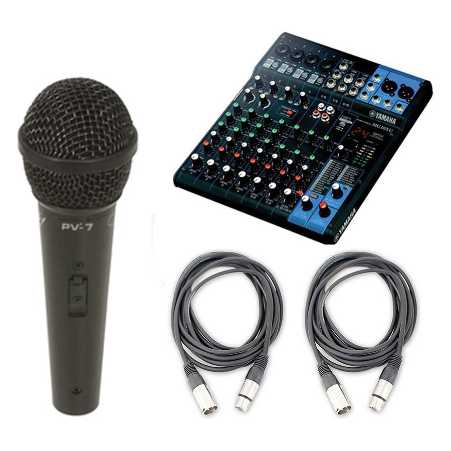 yamaha mg10xu 10 input stereo mixer usb w microphone and cable ebay. Black Bedroom Furniture Sets. Home Design Ideas
