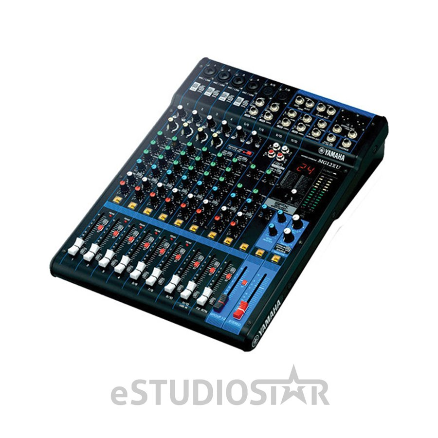 yamaha mg12xu 12 input stereo mixer w effects and usb interface ebay. Black Bedroom Furniture Sets. Home Design Ideas