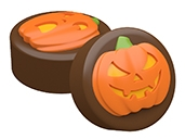 Spooky & Spooked Pumpkins Oreo Cookie Chocolate Mold