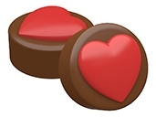 Big Heart Oreo Cookie Chocolate Mold