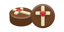 Heart Cross Oreo Cookie Chocolate Mold