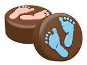 Baby Feet Oreo Cookie Chocolate Mold