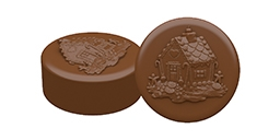 Gingerbread House Oreo Cookie Chocolate Mold