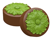Acanthus Rosette Oreo Cookie Chocolate Mold