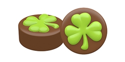 Lucky Shamrock Oreo Cookie Chocolate Mold