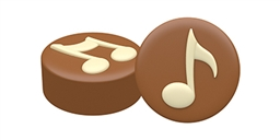 Music Notes Cookie Mold