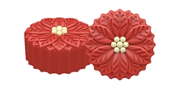 Poinsettia Oreo Cookie Chocolate Mold