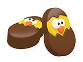 Easter Chick Oreo Cookie Chocolate Mold
