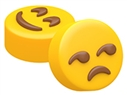 Smiling Eyes & Unamused Face Emoji Oreo Cookie Chocolate Mold
