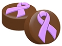 Cancer Awareness Ribbon Oreo Cookie Chocolate Mold