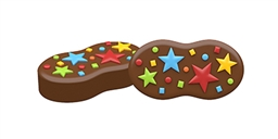 Party Stars Peanut Cookie Mold
