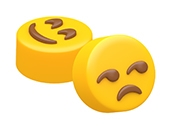 Smiling Eyes & Unamused Face Emoji Mini Mold