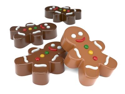 Mini Gingerbread Man Oreo Cookie Chocolate Mold