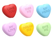 Mini Conversation Hearts Set 1 Cookie Mold