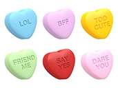 Mini Conversation Hearts Set 3 Cookie Mold
