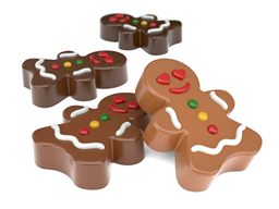 Mini Gingerbread Woman Oreo Cookie Chocolate Mold