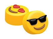 Sunglasses & Heart Eyes Emoji Mini Cookie Mold