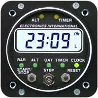 Electronics International ASC-5A Altitude Alert Super Clock Aircraft Gauges
