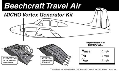 Beechcraft Travel Air Micro Vortex Generators