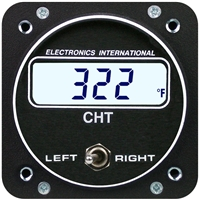 Electronics International C-2 CHT twin gauge