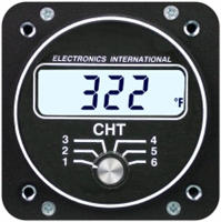 Electronics International C-6 Twin Engine CHT Gauge