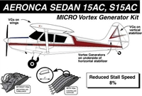 Champion Aeronca Sedan 15AC, S15AC Micro Vortex Generators
