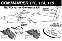Commander 112, 114, 115 Micro Vortex Generators