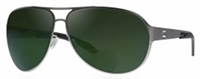 Dual EyeWear AV2 Aviator Green Lens Sunglasses