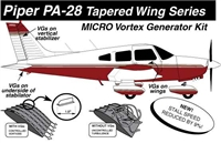 Piper PA-28 Micro Vortex Generators