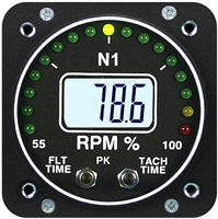Electronics International R-1-N1 RPM Turboprop Instrument