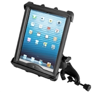 "10"" Tablet with Heavy Cases Yoke Clamp Mount"