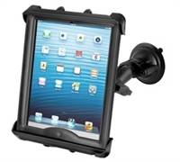 "10"" Tablet with Heavy Cases Twist Lock Suction Cup Mount"