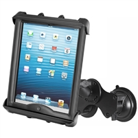 "10"" Tablet with Case Ram Double Twist Lock Suction Mount"