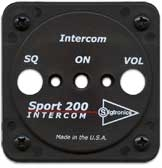 Sigtronics Sport 200 and Sport 200S Faceplate