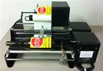 "Bottle-Matic 10"" Semi-Automatic Bottle Labeler - Front & Back Label with Waste Rewinder"