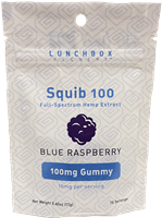 CBD Squib Gummies - Blue Raspberry - 10ct. - 100MG Full Spectrum