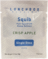 CBD Squib Gummies - Crisp Apple - Single Dose - 20MG Full Spectrum