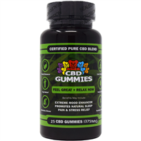 Hemp Bomb - CBD Gummy Bears - 25CT - 375MG