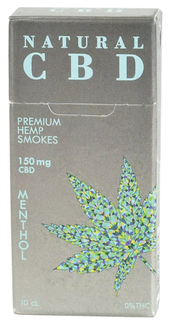 Natural Menthol CBD Smokes - 10ct. - 150MG
