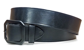 "1.5"" Leather Belt - Black Buckle"
