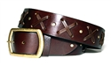 """X""  Belt - Brown leather"